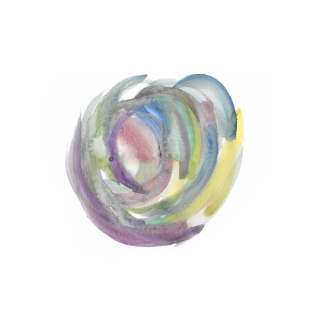 Isolated watercolour brushstrokes texture hand-painted on white background  - Suitable for both onlinephysical medium such as website resources, graphics, print designs, fashion textiles and etc.
