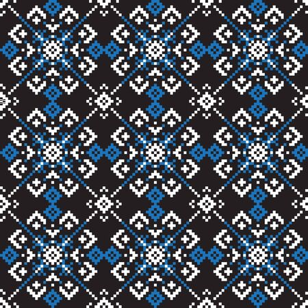 Christmas Snowflakes/Fair Isle Seamless Pattern/Print Background in Vector - suitable for both online/physical medium such as website resources, graphics, print designs, fashion textiles, knitwear and etc.
