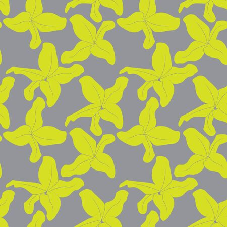 Colourful Decorative Botanical Floral Seamless Print/Pattern in Vector - This is suitable for prints, patterns, backgrounds, websites, wallpaper, crafts Illustration