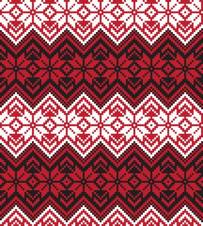 This is a fair isle floral pattern suitable for backgrounds, print designs, fashion textiles, knitwear and etc.