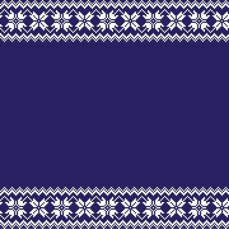 Fair isle floral border  background