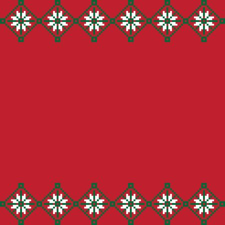 This is a fair isle floral border suitable for backgrounds, printing materials, etc.