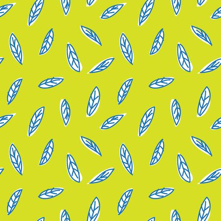 Botanical leaves pattern seamless background