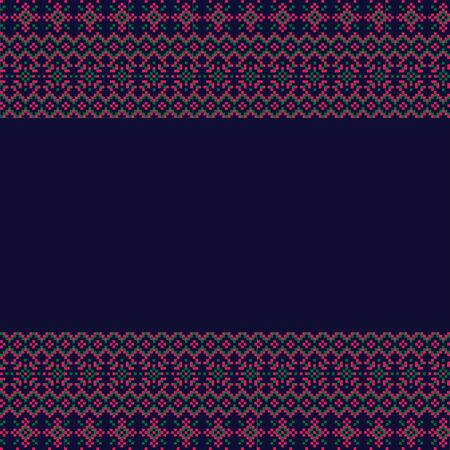 This is a Christmas fair isle border template suitable for backgrounds, printing materials, etc.