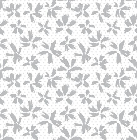 It is a botanical brushstroke floral pattern with dotted background suitable for fashion prints, swimwear, backgrounds, websites, wallpaper, crafts