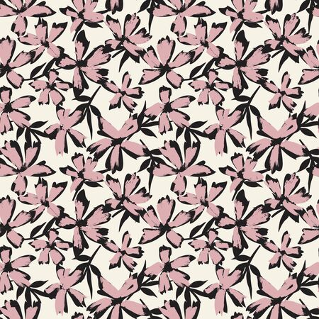 It is a botanical brushstroke floral pattern suitable for fashion prints, swimwear, backgrounds, websites, wallpaper, crafts