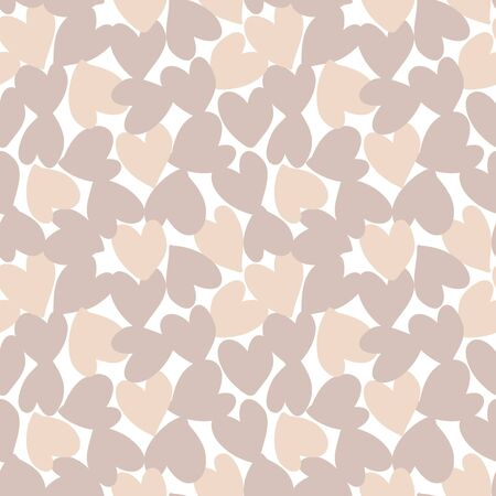 Brown Heart shaped Valentine's Day seamless pattern background for fashion textiles, graphics