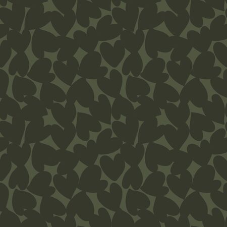 Green Heart shaped Valentine's Day seamless pattern background for fashion textiles, graphics