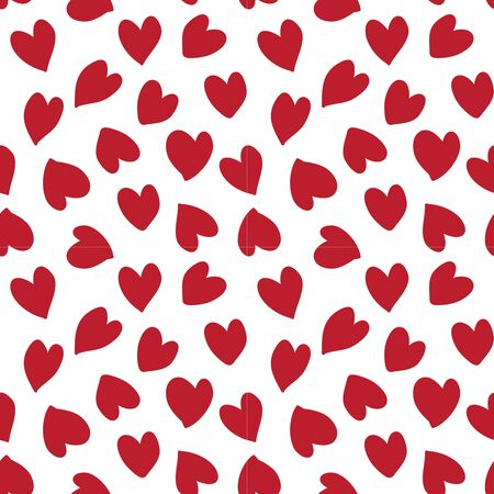 Red Heart shaped Valentine's Day seamless pattern background for fashion textiles, graphics