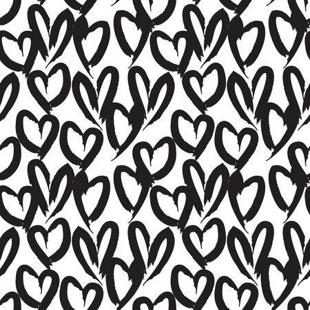 Fond de modèle sans couture de la Saint-Valentin en forme de coeur blanc pour les textiles de mode, graphiques Vecteurs