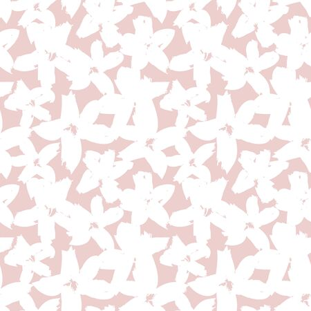 Pink Floral brush strokes seamless pattern background for fashion prints, graphics, backgrounds and crafts