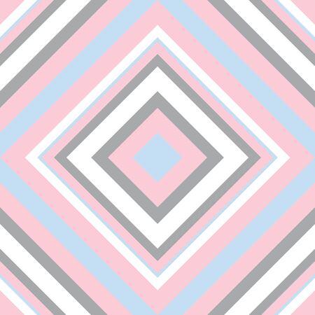 Pink Argyle diagonal striped seamless pattern background suitable for fashion textiles, graphics Vektorové ilustrace