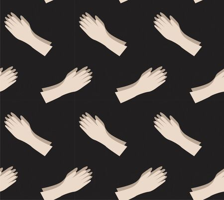 hands seamless pattern illustration