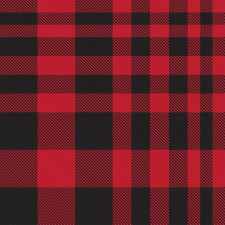 Red Plaid, checkered, tartan seamless pattern suitable for fashion textiles and graphics Ilustración de vector