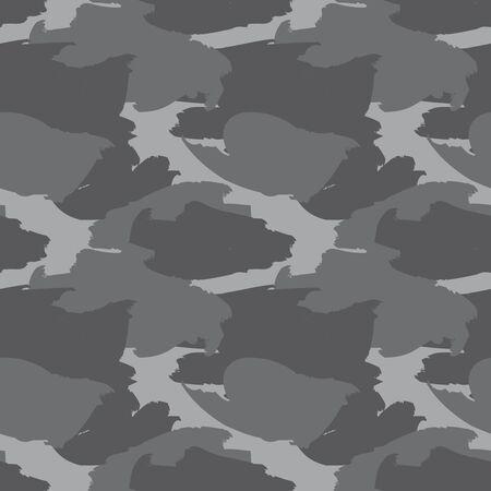 Grey Camouflage abstract seamless pattern background suitable for fashion textiles, graphics
