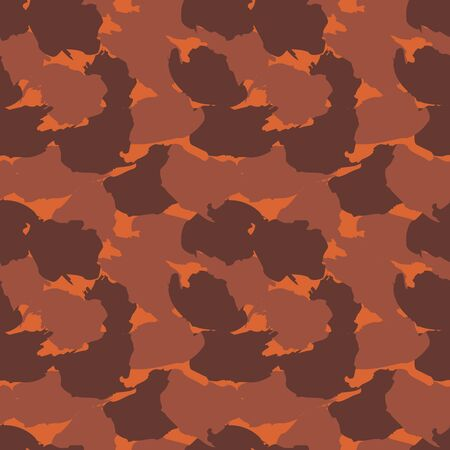 Orange Camouflage abstract seamless pattern background suitable for fashion textiles, graphics Ilustração