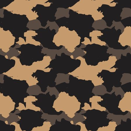 Brown Camouflage abstract seamless pattern background suitable for fashion textiles, graphics