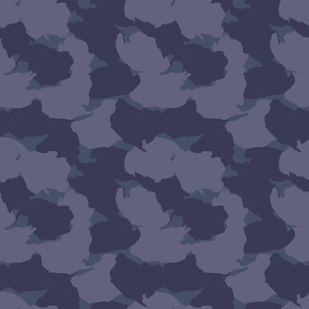 Blue Camouflage abstract seamless pattern background suitable for fashion textiles, graphics 일러스트