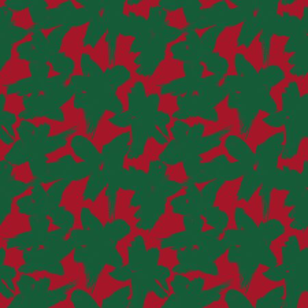 Christmas Floral brush strokes seamless pattern background for fashion prints, graphics, backgrounds and crafts