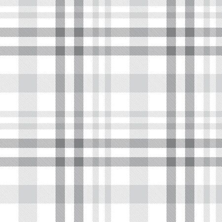 White Plaid, checkered, tartan seamless pattern suitable for fashion textiles and graphics