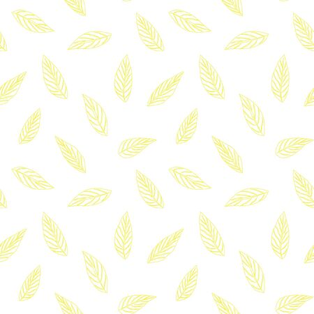 Yellow Tropical Leaf botanical seamless pattern background suitable for fashion prints, graphics, backgrounds and crafts 向量圖像
