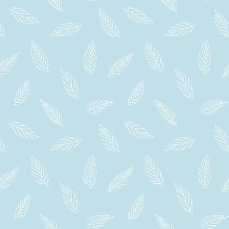 Sky Blue Tropical Leaf botanical seamless pattern background suitable for fashion prints, graphics, backgrounds and crafts