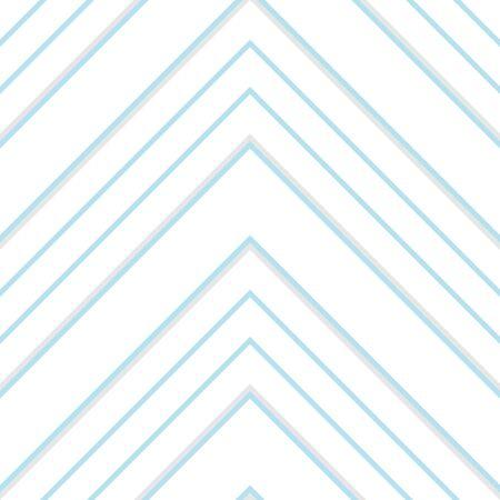 Sky blue Chevron diagonal striped seamless pattern background suitable for fashion textiles, graphics