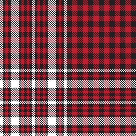 Red Glen Plaid textured seamless pattern suitable for fashion textiles and graphics Banque d'images - 150036334