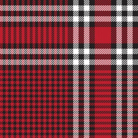 Red Glen Plaid textured seamless pattern suitable for fashion textiles and graphics Banque d'images - 150036403