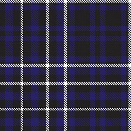 Blue Glen Plaid textured seamless pattern suitable for fashion textiles and graphics