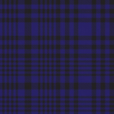 Blue Glen Plaid textured seamless pattern suitable for fashion textiles and graphics Banque d'images - 150034616