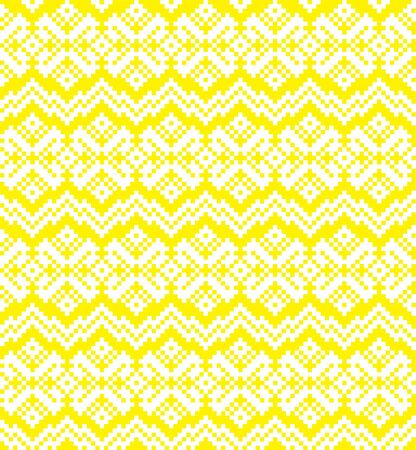 Yellow Christmas fair isle pattern background for fashion textiles, knitwear and graphics