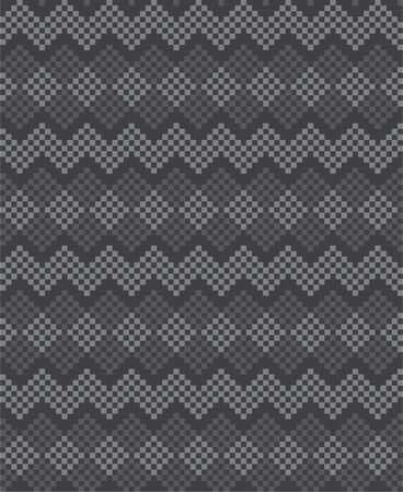 Grey Christmas fair isle pattern background for fashion textiles, knitwear and graphics