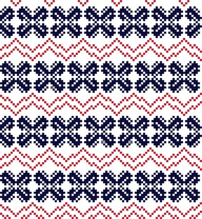 Red Navy Christmas fair isle pattern background for fashion textiles, knitwear and graphics