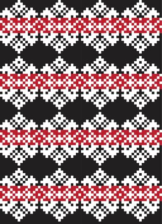 Red Christmas fair isle pattern background for fashion textiles, knitwear and graphics