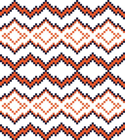 Orange Christmas fair isle pattern background for fashion textiles, knitwear and graphics