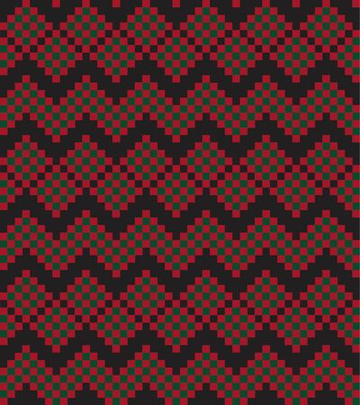 Christmas fair isle pattern background for fashion textiles, knitwear and graphics