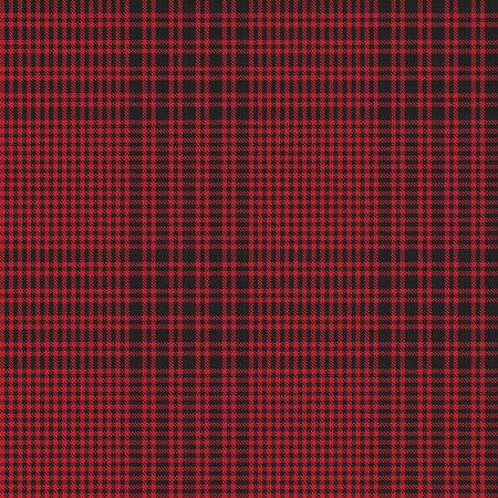 Red Glen Plaid textured seamless pattern suitable for fashion textiles and graphics Ilustración de vector