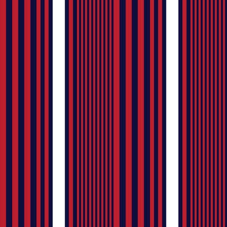 Red and Blue vertical striped seamless pattern background suitable for fashion textiles, graphics