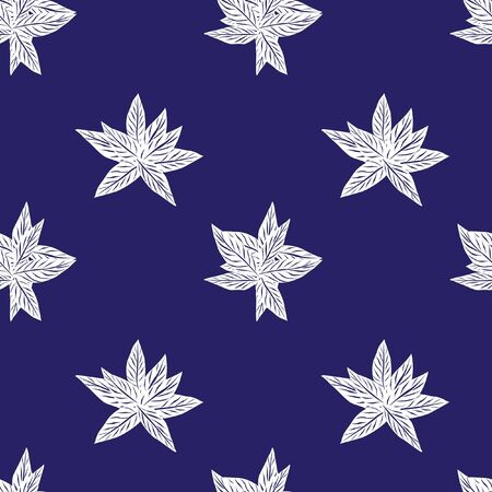 Blue Tropical Leaf botanical seamless pattern background suitable for fashion prints, graphics, backgrounds and crafts 向量圖像