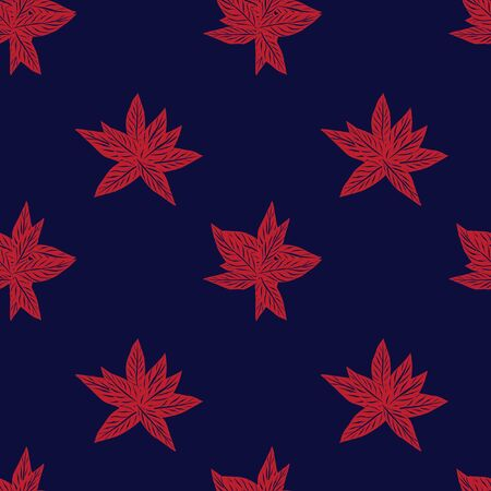 Red Navy Tropical Leaf botanical seamless pattern background suitable for fashion prints, graphics, backgrounds and crafts 向量圖像