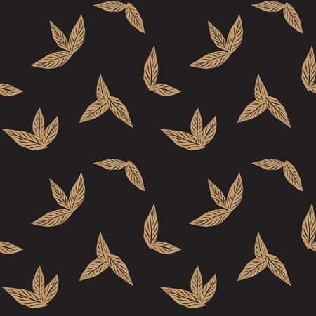 Brown Tropical Leaf botanical seamless pattern background suitable for fashion prints, graphics, backgrounds and crafts