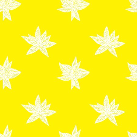 Yellow Tropical Leaf botanical seamless pattern background suitable for fashion prints, graphics, backgrounds and crafts Vectores