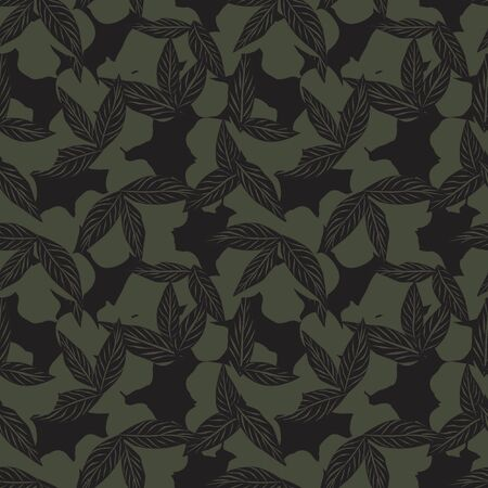 Green Tropical Leaf botanical seamless pattern background suitable for fashion prints, graphics, backgrounds and crafts