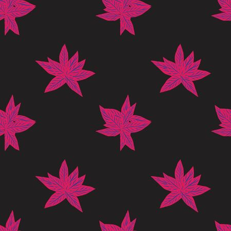 Purple Tropical Leaf botanical seamless pattern background suitable for fashion prints, graphics, backgrounds and crafts