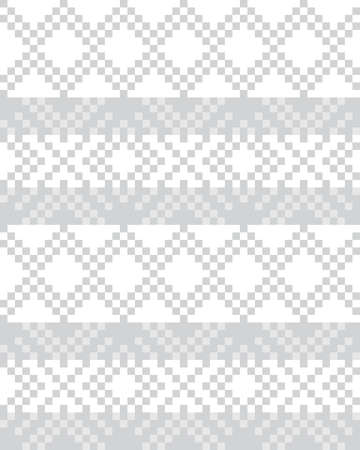 White Christmas fair isle pattern background for fashion textiles, knitwear and graphics 矢量图片