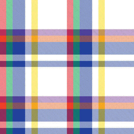 Rainbow Plaid, checkered, tartan seamless pattern suitable for fashion textiles and graphics Vector Illustration
