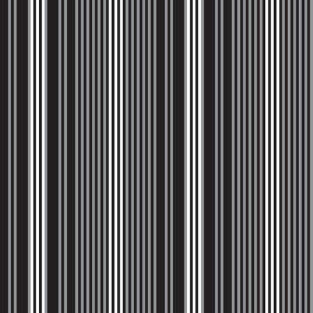 Black and white vertical striped seamless pattern background suitable for fashion textiles, graphics Vector Illustration