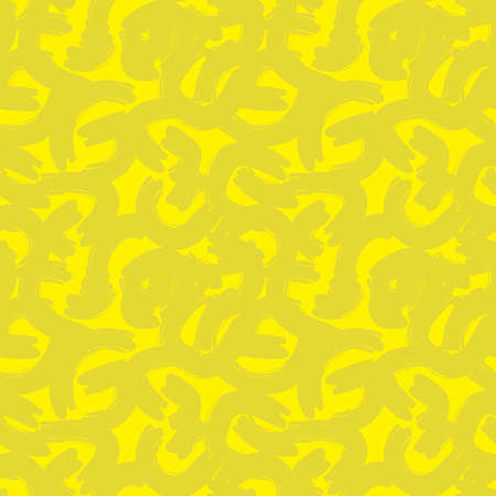 Yellow Camouflage abstract seamless pattern background suitable for fashion textiles, graphics