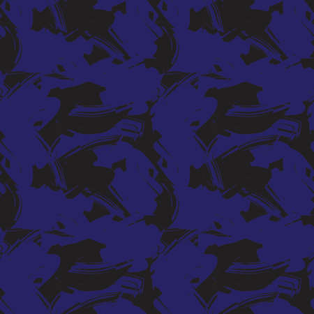 Blue Camouflage abstract seamless pattern background suitable for fashion textiles, graphics